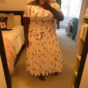 NWT Light Pink Floral Lane Bryant Maxi Dress